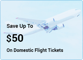 Save Up To $50 on Domestic Flight Tickets